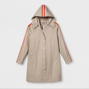Hunter for Target Hooded Trench Coat Size Large